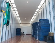 Ideal Movers and Storage keeps the back of their trucks clean and orderly